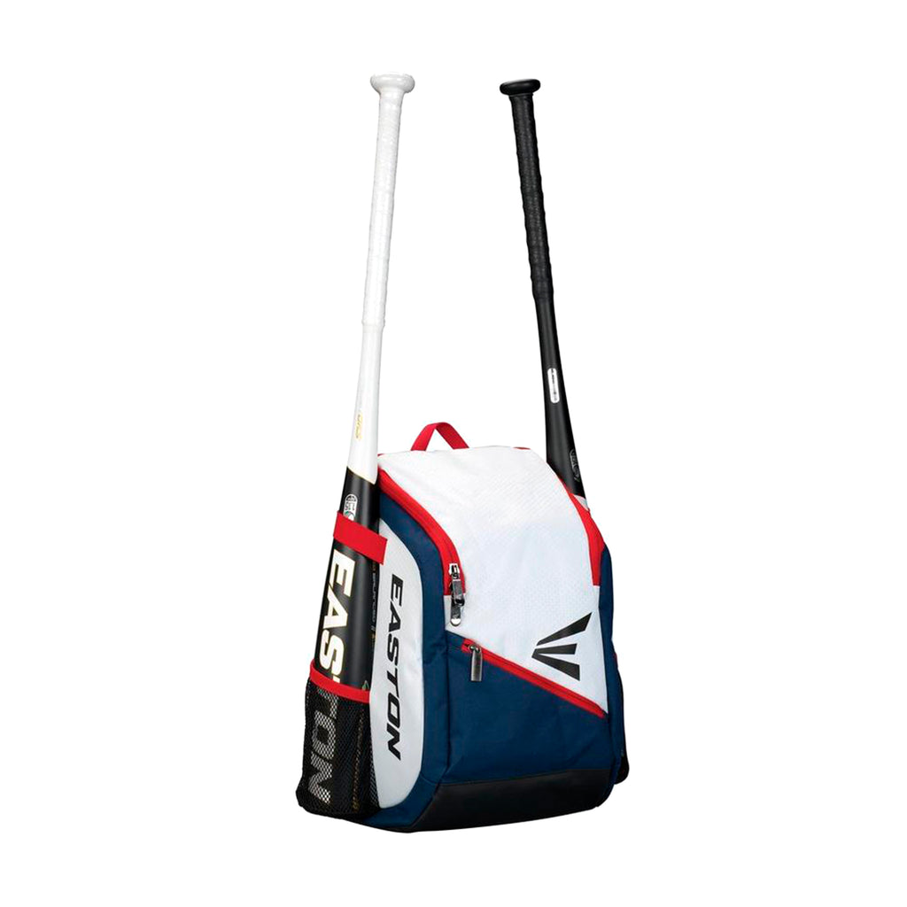 Back Pack Beisbol Softbol Easton Game Ready Blanco Rojo Marino INFANTIL
