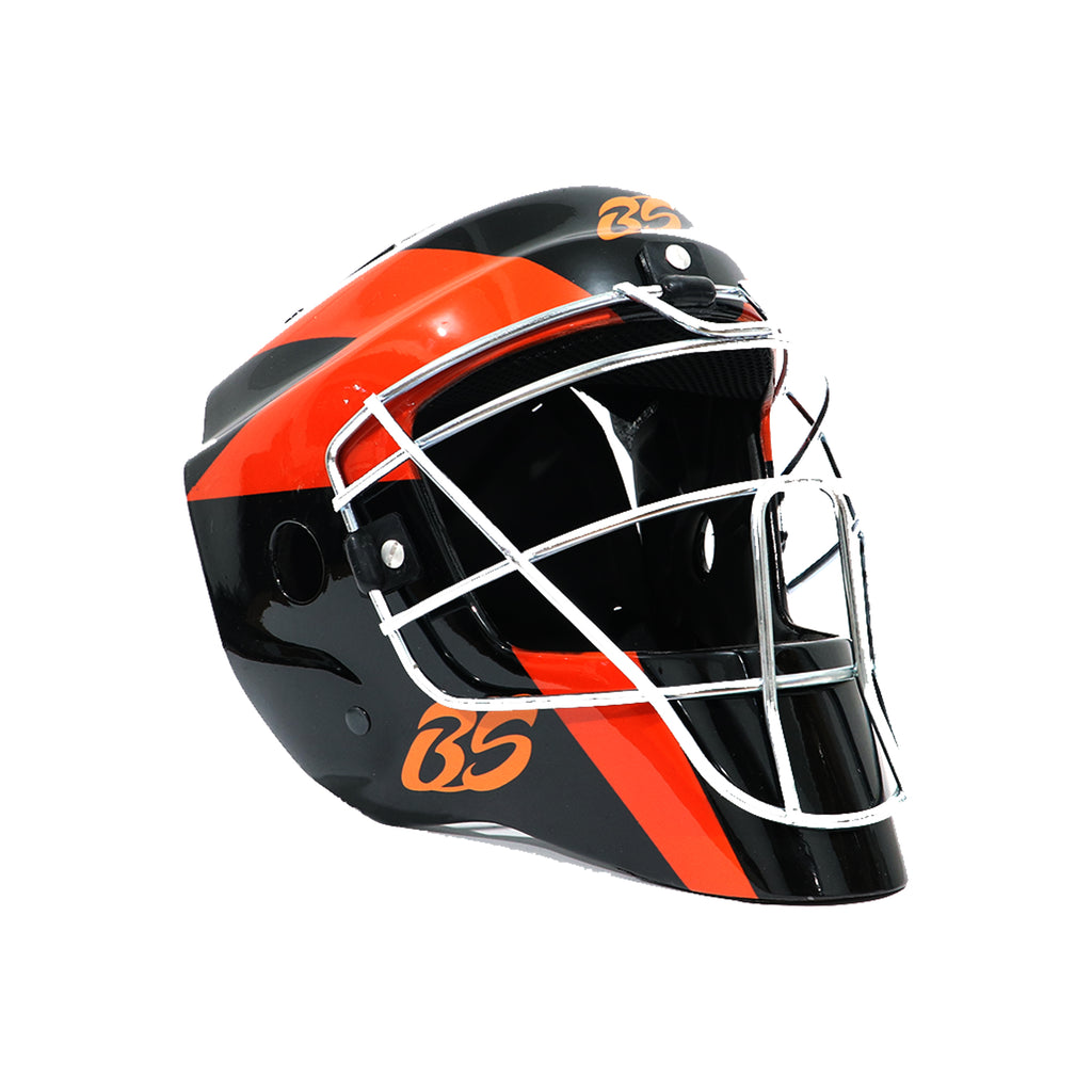 Careta BS Pro 7 in - 7 5/8 in Negro Naranja Adulto