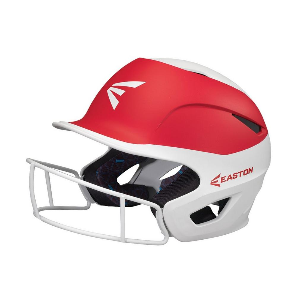 Casco Softbol Easton Prowess PF Blanco Rojo