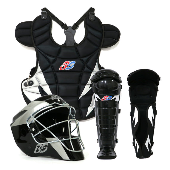 Equipo de Catcher Bs Pro Negro Gris Adulto