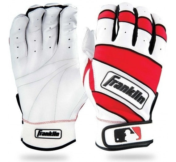 Guanteletas Beisbol Franklin The Natural II Blanco Rojo ADULTO