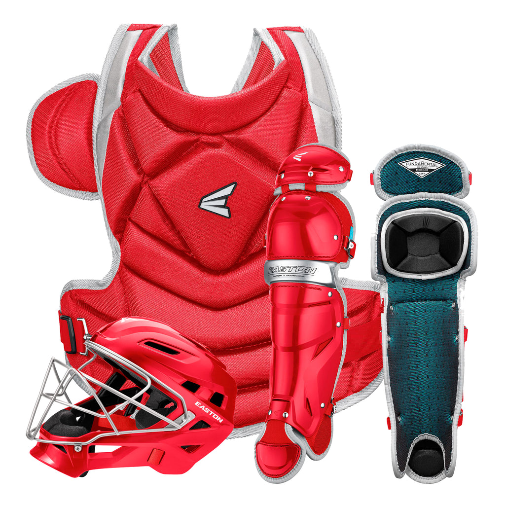 Equipo de Catcher Softbol Easton The Fundamental Rojo Gris