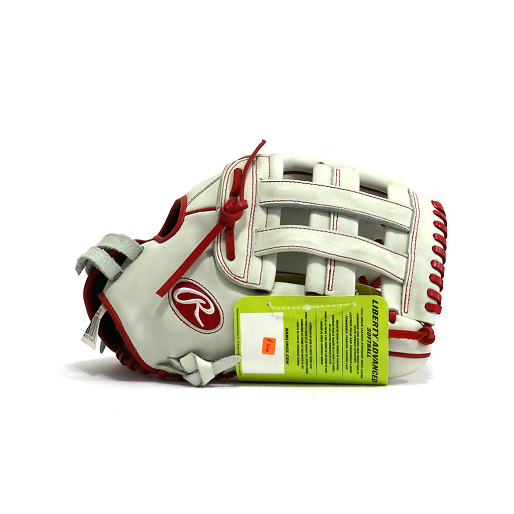 Guante Softbol Rawlings Liberty Blanco Rojo ADULTO
