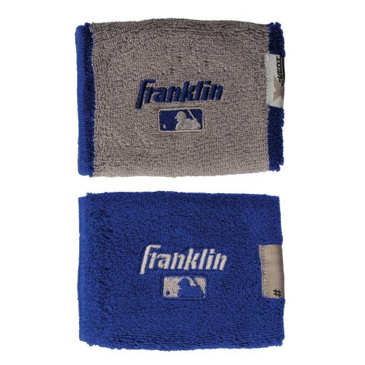 Muñequeras Franklin 4 in MLB X-Vent Reversible Azul Rey Gris