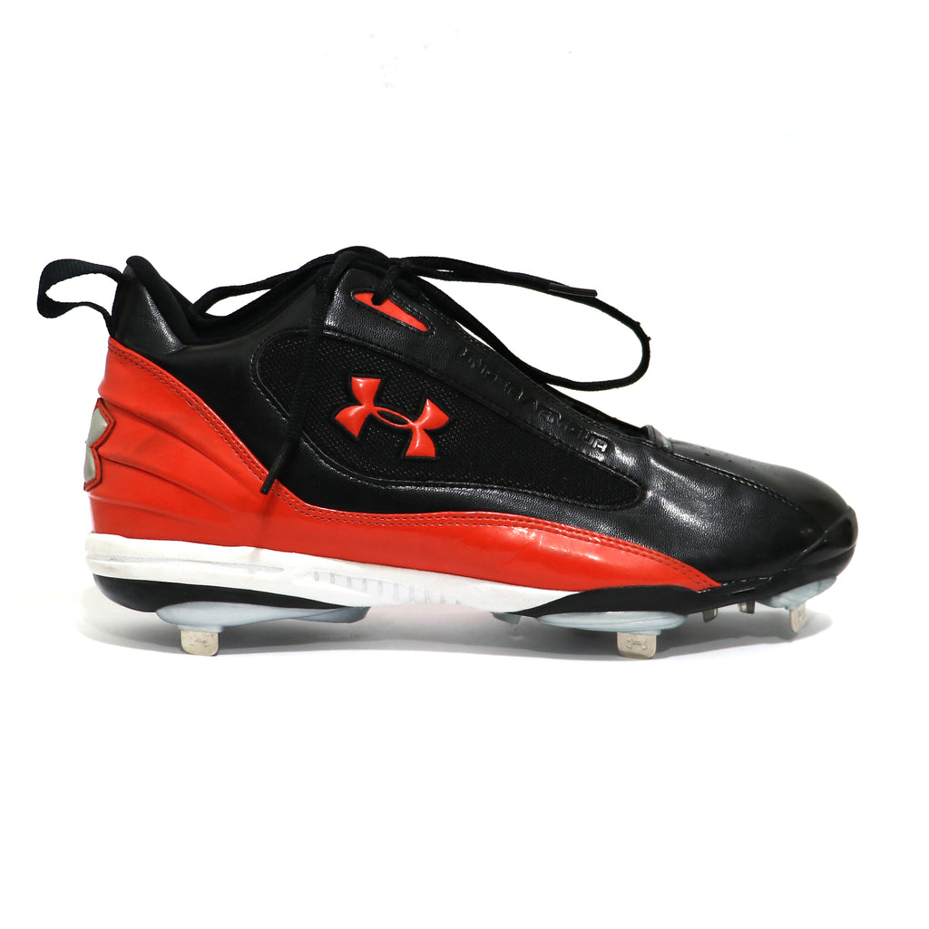 Spikes Beisbol Metal Under Armour Clutch Mid Negro Naranja