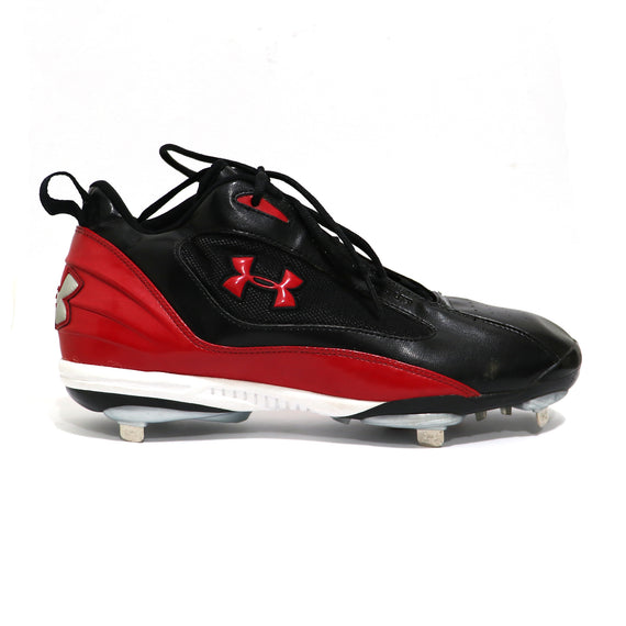 Spikes Beisbol Metal Under Armour Clutch Mid Negro Rojo