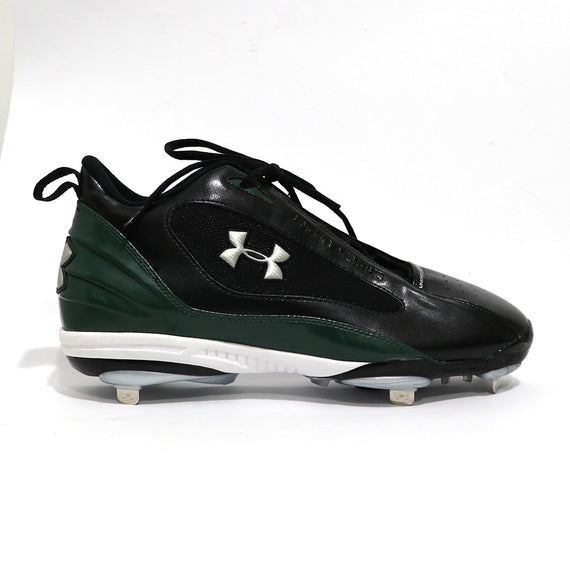 Spikes Beisbol Metal Under Armour Clutch Mid Negro Verde