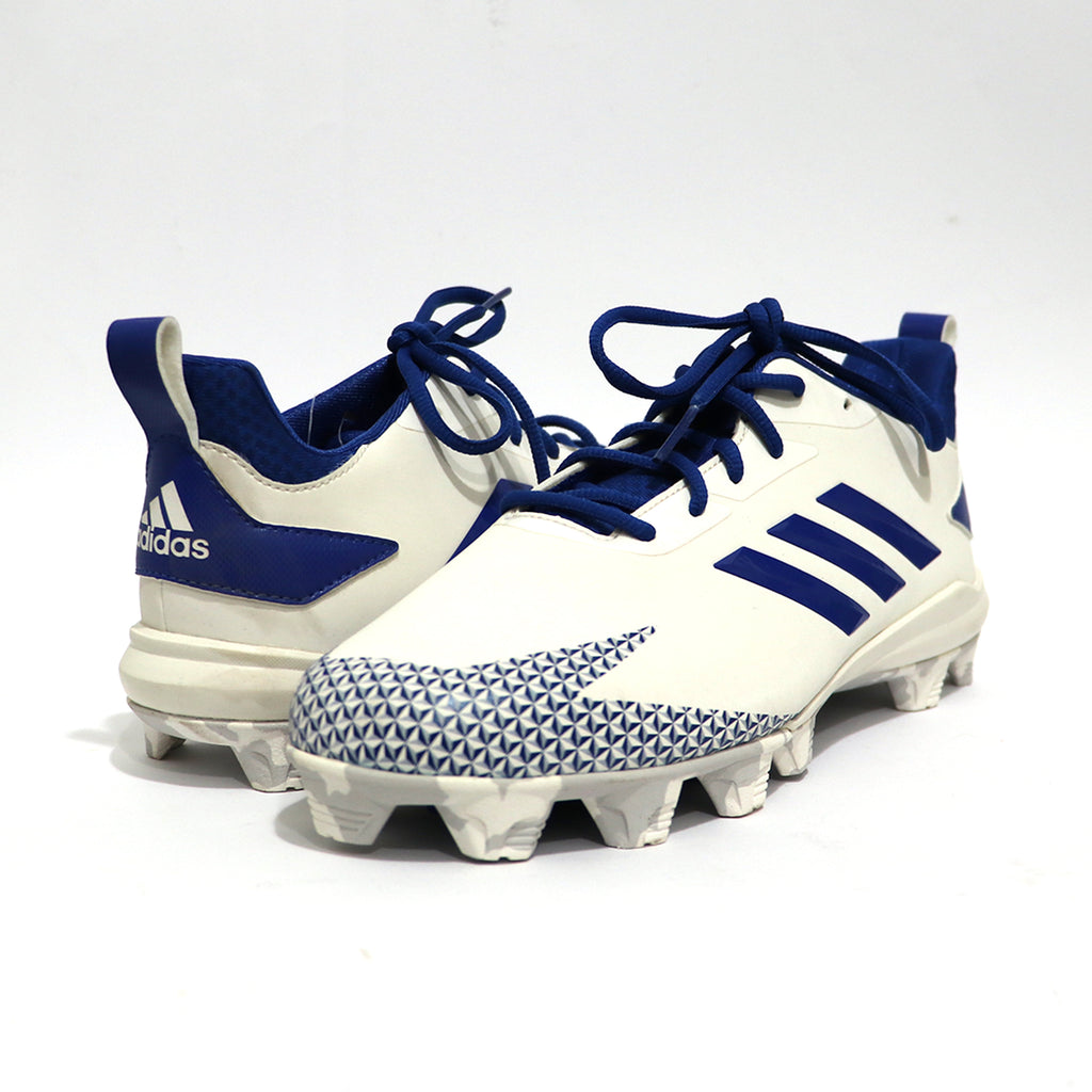 Spikes Beisbol Softbol Adidas After Burn Blanco Rey