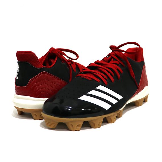 Spikes Beisbol Softbol Adidas Icon 4 MD Negro Rojo