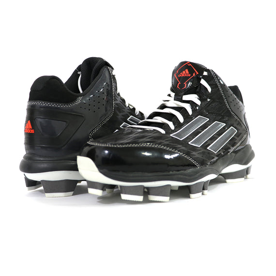 Spikes Beisbol Softbol Adidas Power Alley 2 Mid Negro Gris