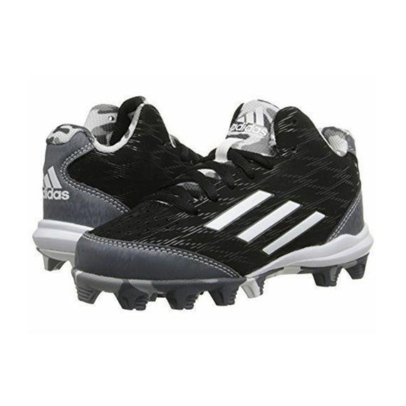 Spikes Beisbol Softbol Adidas Whell House 3 Mid Negro Gris INFANTIL