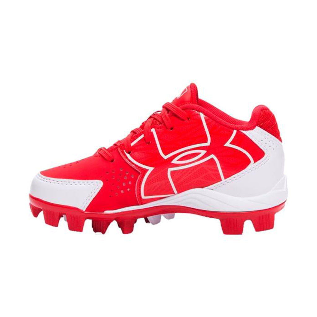 Spikes Beisbol Softbol Under Armour Clean Up Rojo Blanco INFANTIL