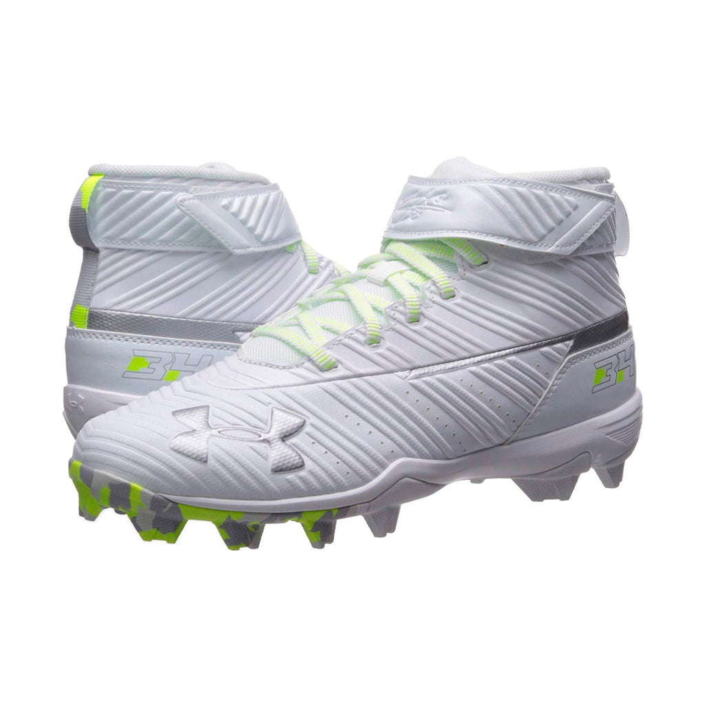 Spikes Beisbol Softbol Under Armour Harper Mid Rm Blanco