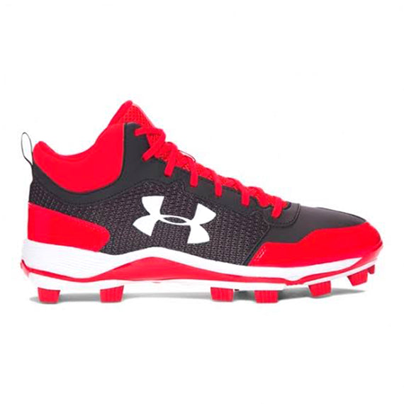Spikes Beisbol Softbol Under Armour Heater Mid Negro Rojo INFANTIL
