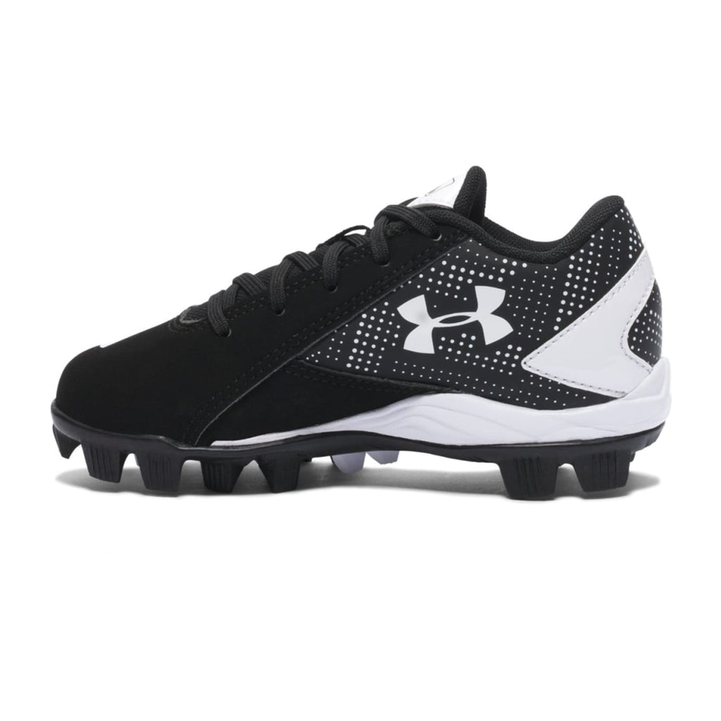 Spikes Beisbol Softbol Under Armour Leadoff Low Negro Blanco INFANTIL