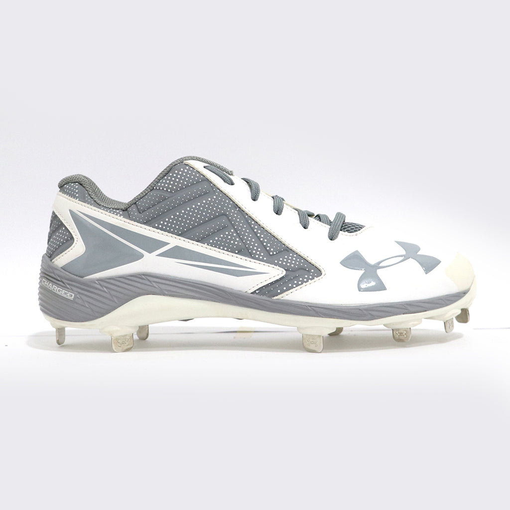 Spikes Beisbol Under Armour Leadoff Blanco Gris