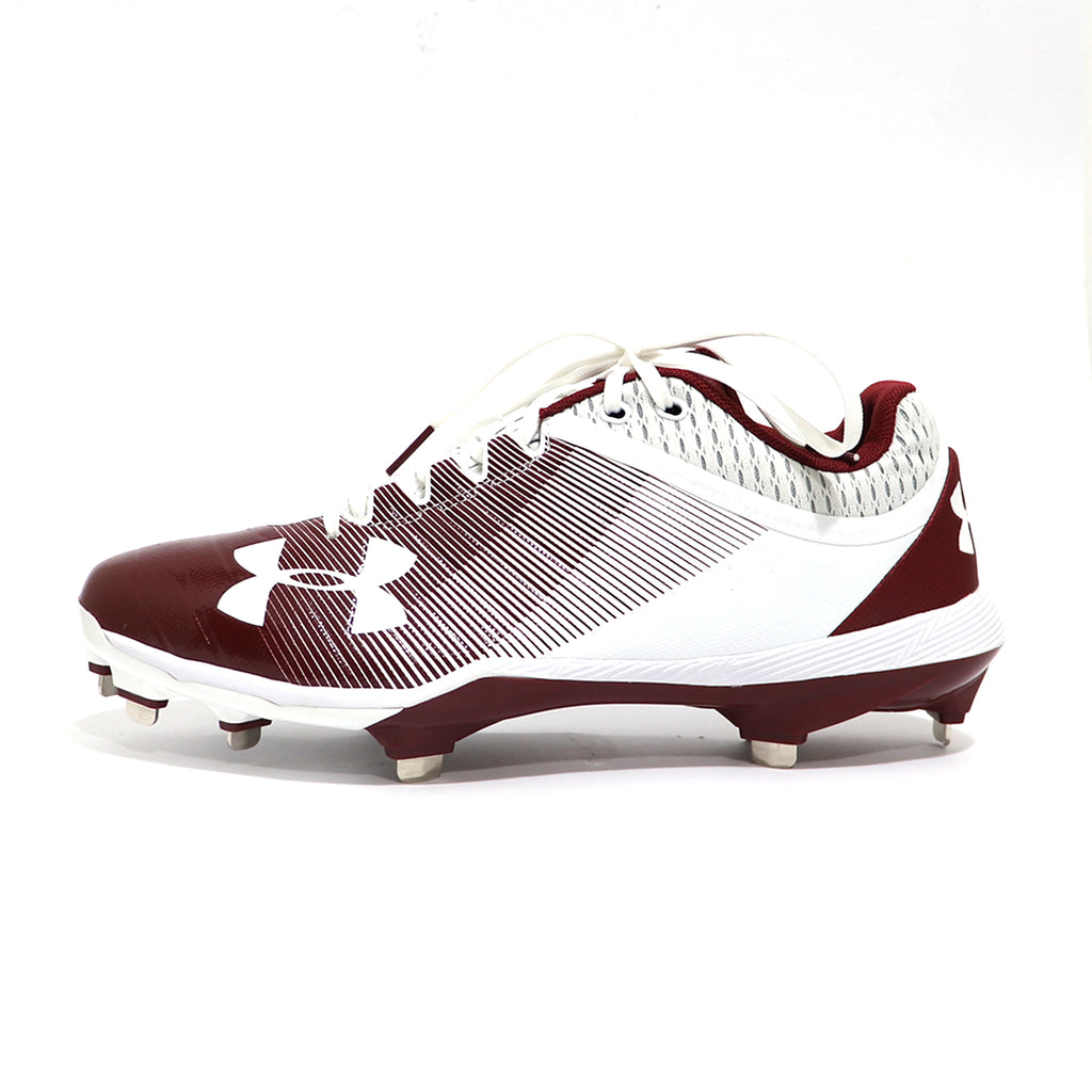 Spikes Beisbol Under Armour Yard Low Blanco Guinda