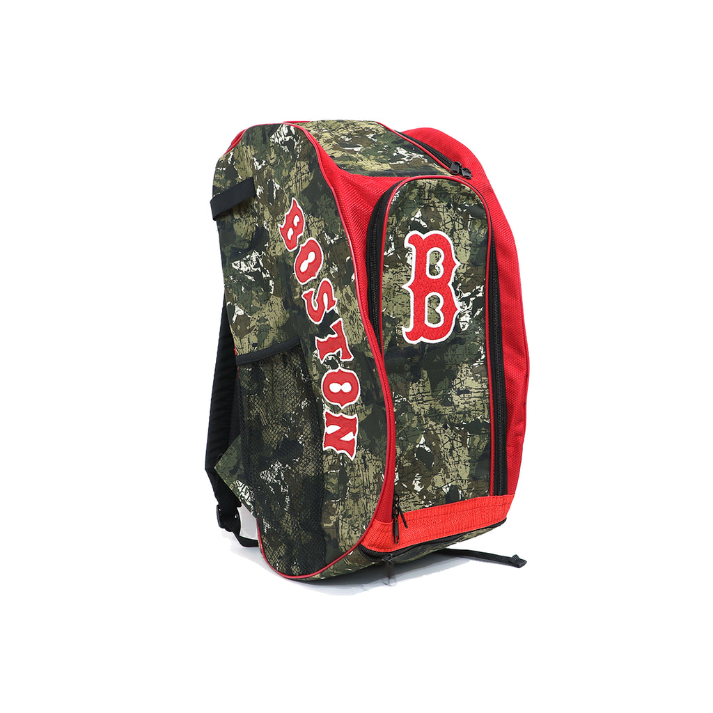 Back Pack Beisbol Softbol BS Boston Verde Camu