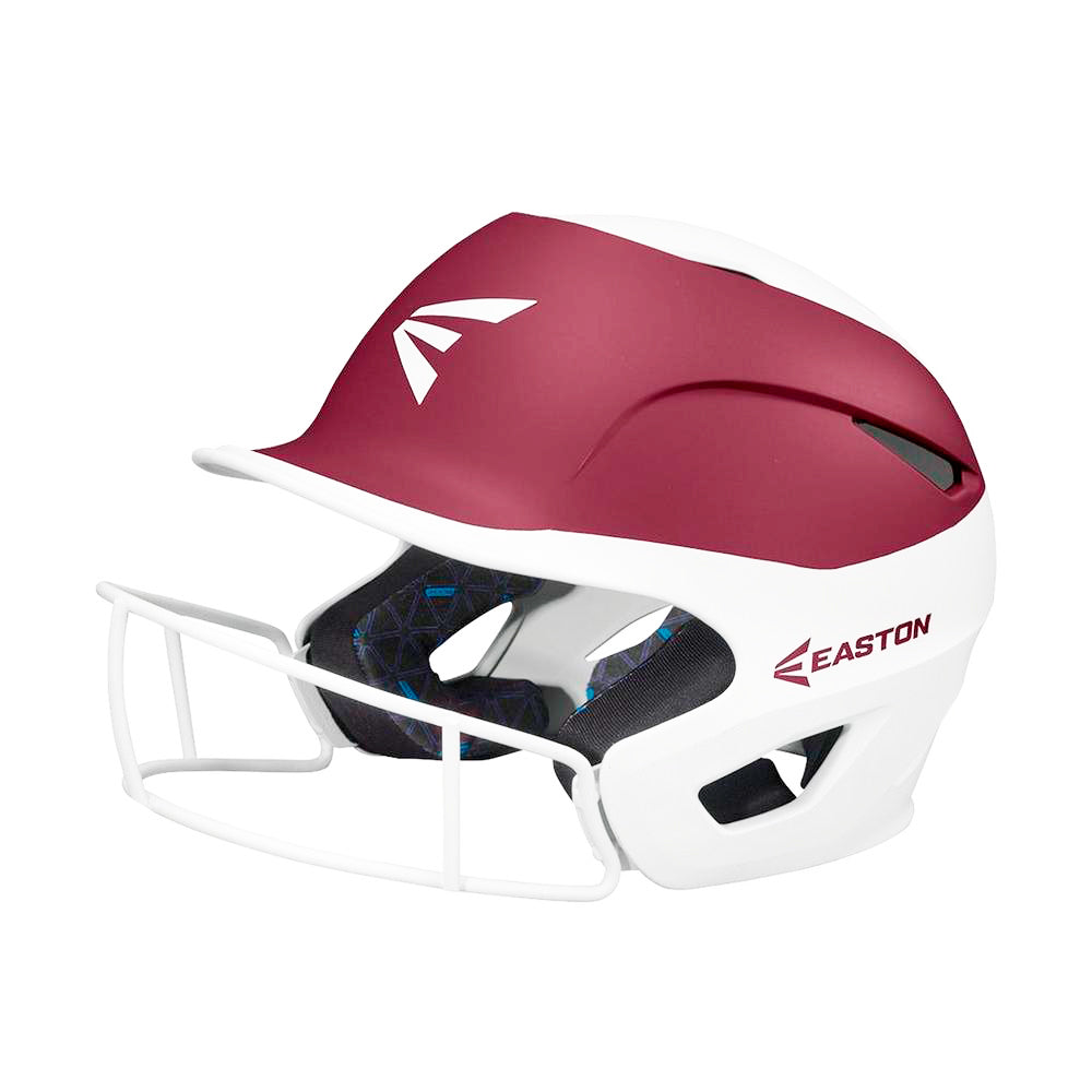 Casco Softbol Easton Prowess PF Blanco Vino