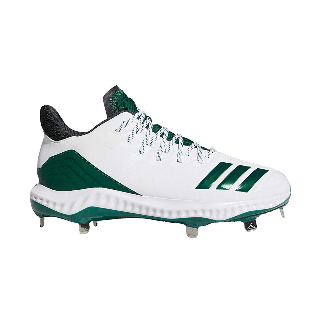 Spikes Beisbol Adidas Icon 4 Bounce Blanco Verde