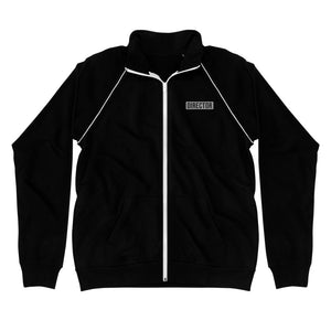 TheDirector Embroidered Piped Fleece Jacket - Black
