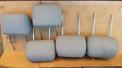 98-05 Mercedes Benz ML320 W163 Light grey Leather Headrests Set of 5 - USEDPARTSRUS