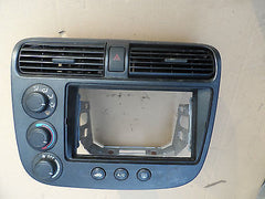 01-05 Honda Civic Heater Control Radio Bezel Dash Vents Climate Air Conditioning - USEDPARTSRUS