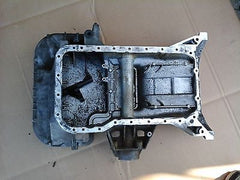 2000 MERCEDES-BENZ E320 W210 UPPER & LOWER ENGINE OIL PAN ASSEMBLY A1040141602 - USEDPARTSRUS