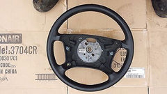99 05 BMW E46 325i 330i Steering Wheel 32346753945 Black 32346753947 LEATHER - USEDPARTSRUS