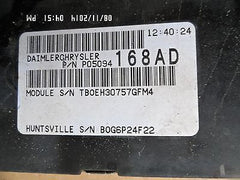06 Dodge Caravan Chrysler Town & Country 3.8L Engine Control Module 05094658AD - USEDPARTSRUS