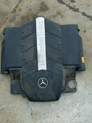 00-06 MERCEDES W220 S500 S430 AIR INTAKE FILTER 1120901501 CLEANER BOX ENGINE COVER 102615 - USEDPARTSRUS