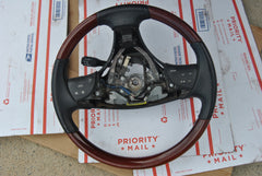 2008 LEXUS ES350 4510033730C0 GENUINE OEM STEERING WHEEL WOODGRAIN CONTROLS - USEDPARTSRUS