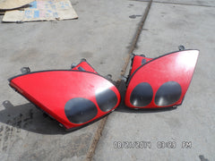 94 95 96 Mitsubishi 3000GT Dodge Stealth Headlight Head light set left & right red color - USEDPARTSRUS