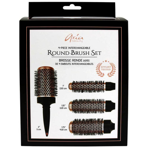 ARIA 4-Piece Round Brush Set