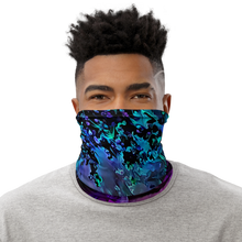 Load image into Gallery viewer, Blacklight Night on Aurora Road Neck Gaiter