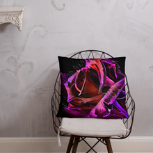 Load image into Gallery viewer, Blacklight Rose Splash Pillow