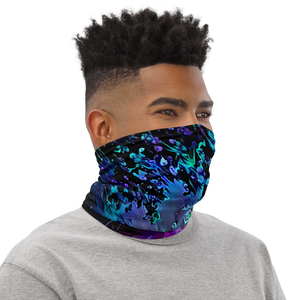 Blacklight Night on Aurora Road Neck Gaiter