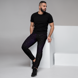 Star Field Purple Men's Joggers
