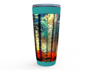 Abstract Cold Autumn Forest Viking Tumblers