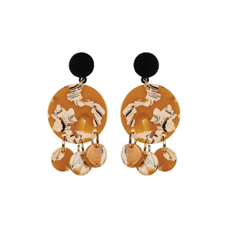 Eb & Ive Rosa Drop Earrings Mustard