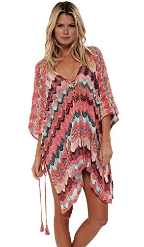 SALIDA DE PLAYA - Vestido de ganchillo Cover Up Lace Up Beachwear