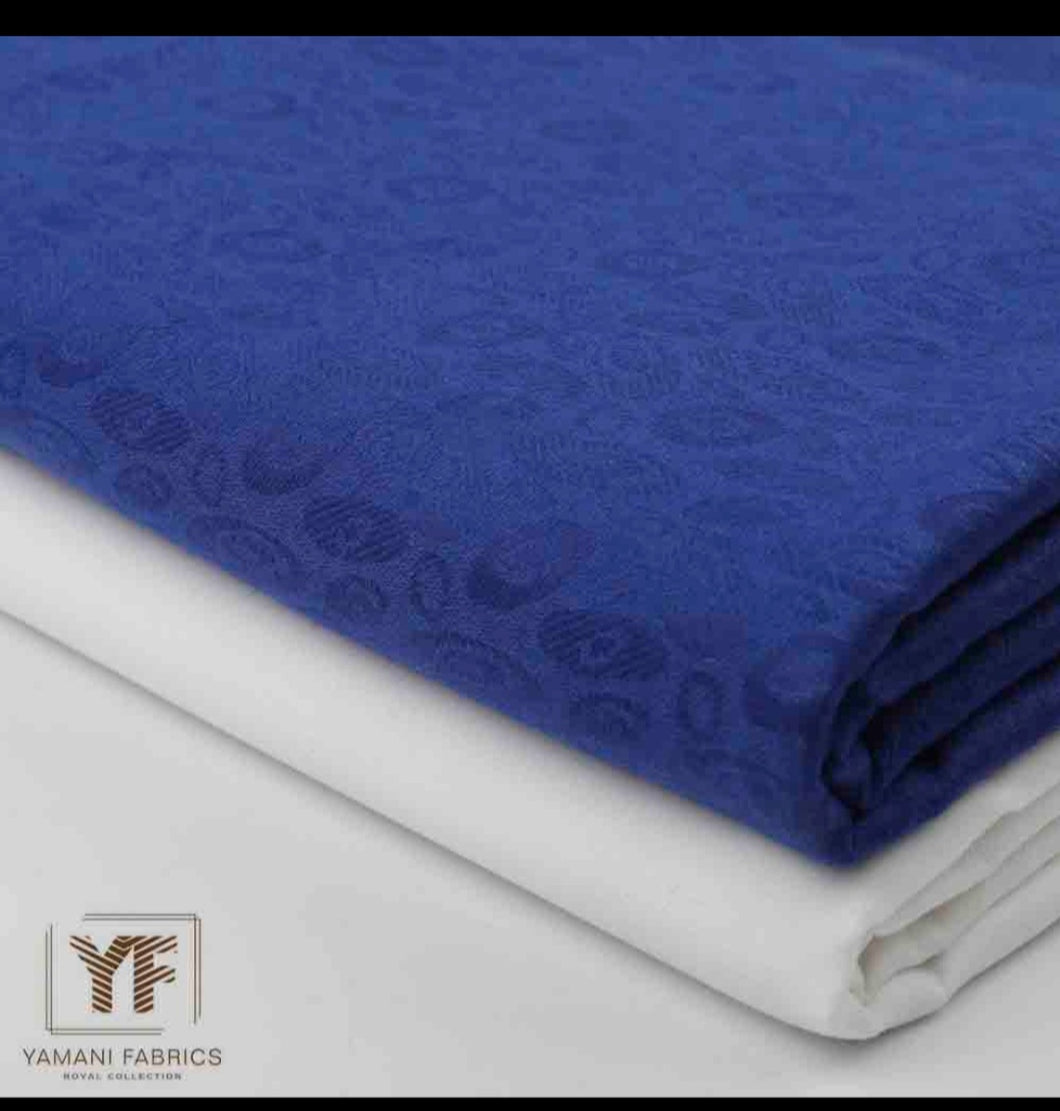 Royal Blue Jacquard 01