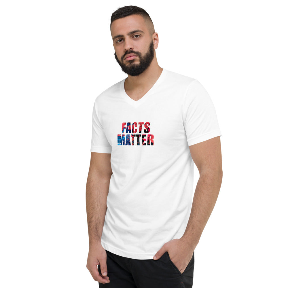 Facts Matter (Unisex Short Sleeve V-Neck T-Shirt)