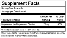 Load image into Gallery viewer, Magnesium Citrate - 90 capsules - Allergy Research Group