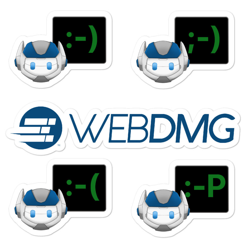 WEBDMG Robot Emoji Stickers Pack