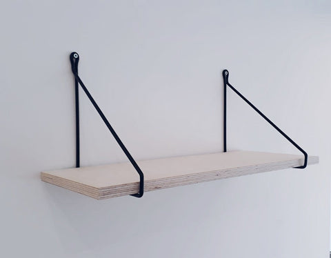 SCANDI DISPLAY SHELF WITH TRIANGULAR BRACKETS
