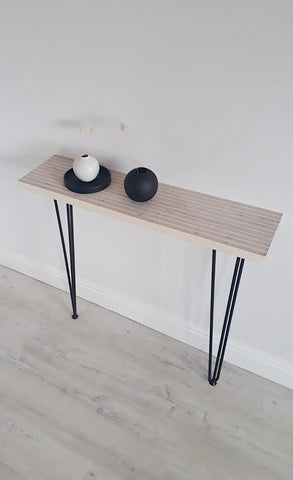 END GRAIN CONSOLE TABLE