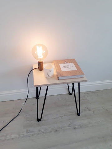 SCANDI LOW SIDE TABLE WITH HAIRPIN LEGS