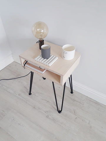 SCANDI OPEN SIDE TABLE WITH HAIRPIN LEGS