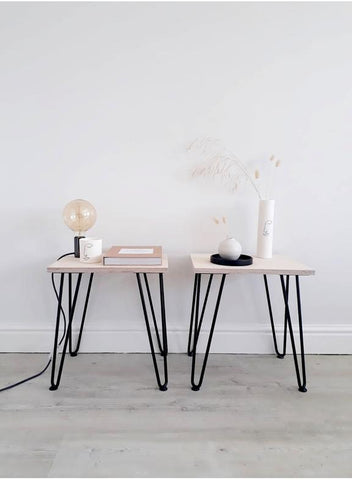 PAIR OF SCANDI LOW SIDE TABLES